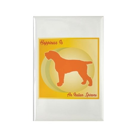 Spinone Happiness Rectangle Magnet (100 pack)