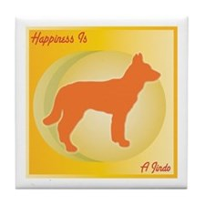 Jindo Happiness Tile Coaster