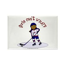 Dark Hockey Rectangle Magnet