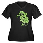 Absinthe Women's Plus Size V-Neck Dark T-Shirt