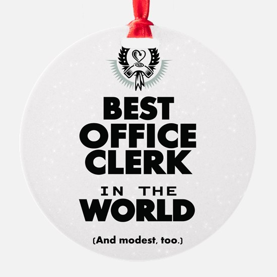 The Best in the World – Office Clerk Ornament