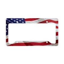 Closeup of the American flag License Plate Holder