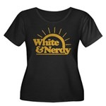 White & Nerdy Women's Plus Size Scoop Neck Dark T-