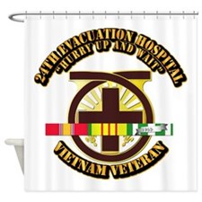 Army - 24th Evacuation Hospital w SVC Ribbon Showe