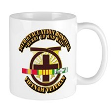Army - 24th Evacuation Hospital w SVC Ribbon Mug