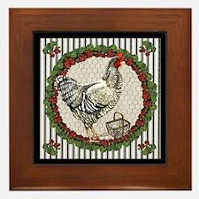 Geranium Chicken Framed Tile