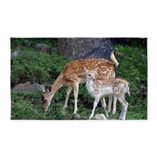 Bambi and mother 3'x5' Area Rug