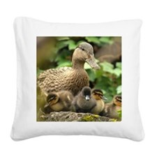 Ducklings Square Canvas Pillow