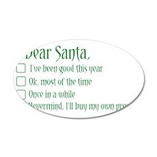 Dear Santa Wall Decal
