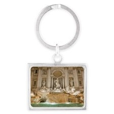 Trevi Fountain at night, Rome,  Landscape Keychain