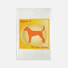Foxhound Happiness Rectangle Magnet (10 pack)