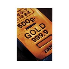 Gold bar Rectangle Magnet