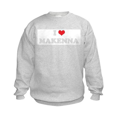 I Heart MAKENNA Kids Sweatshirt