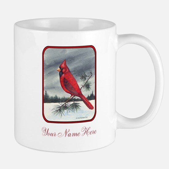Red Northern Cardinal Bird Personalize Mugs