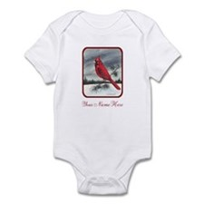 Red Northern Cardinal Bird Personalize Body Suit