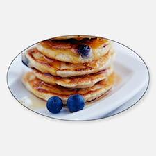 Blueberry pancakes Sticker (Oval)