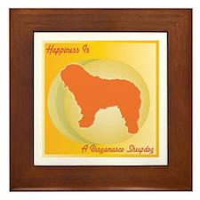 Bergamasco Happiness Framed Tile