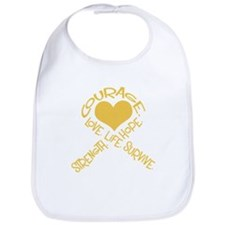 Gold Ribbon of Words Bib