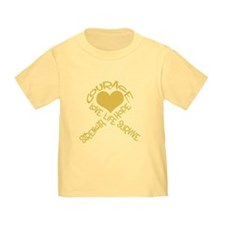Gold Ribbon of Words T