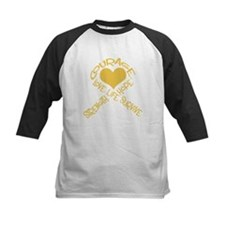Gold Ribbon of Words Tee
