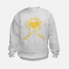 Gold Ribbon of Words Sweatshirt