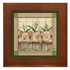 Three Little Pigs Framed Tile