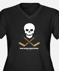 Dead Serious about hockey Women's Plus Size V-Neck