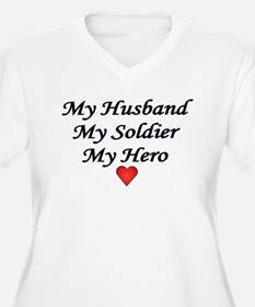 My Husband, My Soldier, My He T-Shirt