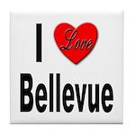 I Love Bellevue Tile Coaster