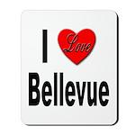 I Love Bellevue Mousepad