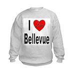 I Love Bellevue (Front) Kids Sweatshirt