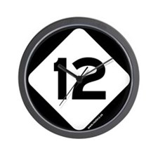 State Route 12 Wall Clock