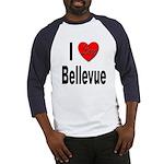 I Love Bellevue (Front) Baseball Jersey