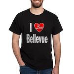I Love Bellevue (Front) Dark T-Shirt