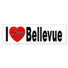 I Love Bellevue Bumper Bumper Sticker