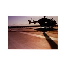 Helicopter on landing pad Rectangle Magnet
