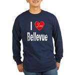 I Love Bellevue (Front) Long Sleeve Dark T-Shirt
