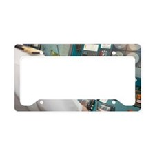 Captain at Control Panel License Plate Holder