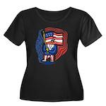 Patriotic Guy Women's Plus Size Scoop Neck Dark T-