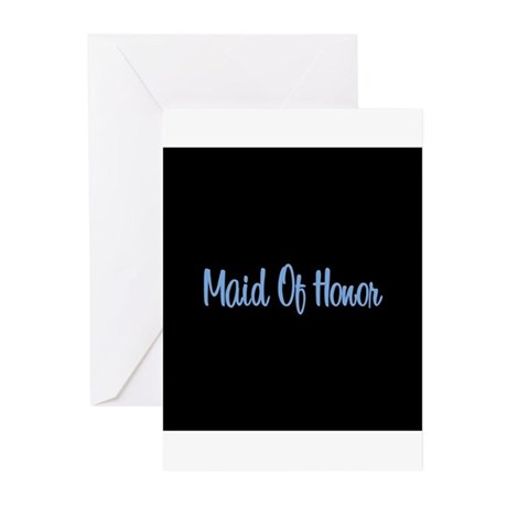 Maid Of Honor - Blue Greeting Cards (Pk of 10)