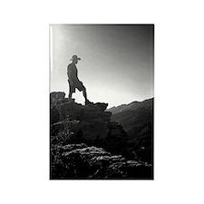 Hiker on the edge of forever Rectangle Magnet