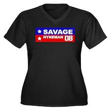 SAVAGE / HYNEMAN 2008 Women's Plus Size V-Neck Dar