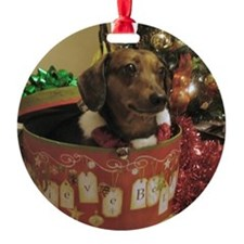 Christmas Dachshund Ornament