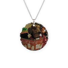 Christmas Dachshund Necklace