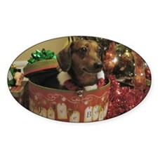 Christmas Dachshund Decal