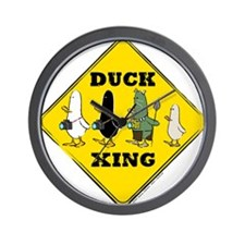 WTD: Duck Crossing Wall Clock