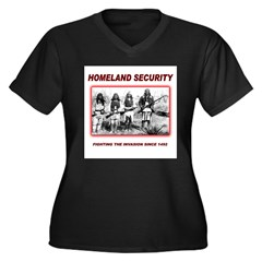 Homeland Security Native Women's Plus Size V-Neck