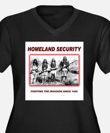 Homeland Security Native Women's Plus Size V-Neck