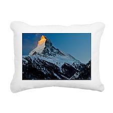 View of Matterhorn, Alps Rectangular Canvas Pillow