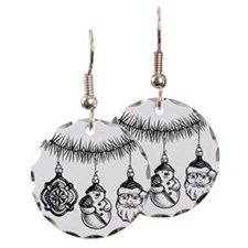 LiquidLibrary Earring Circle Charm